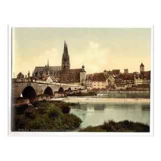 Steinbrücke (d.h. Steinerne Brucke) und Kathedrale Postkarte