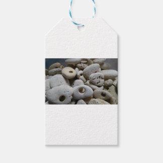Steine mit Lochhandwerks-Geschenkaufklebern Geschenkanhänger