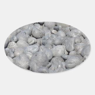 Steine Ovaler Aufkleber