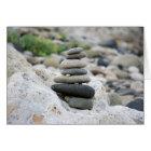 Steine Zen im Strand von Almeria Karte