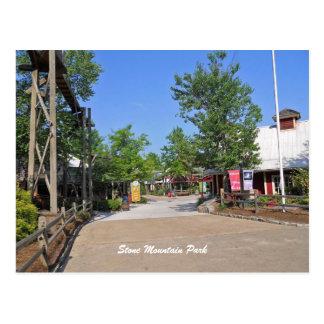 Steingebirgspark-Eingang, Steinberg, GA Postkarte