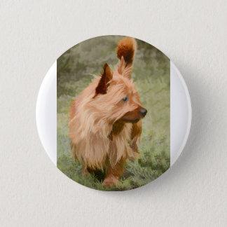 Steinhaufen Terrier - Malerei Runder Button 5,1 Cm