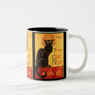 Steinlen: Chat Noir Zweifarbige Tasse