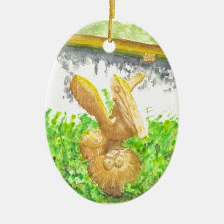 Steinmutter Ovales Keramik Ornament