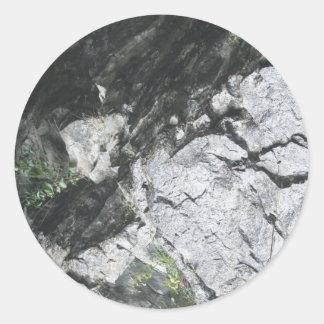 Steinoptik Runder Aufkleber