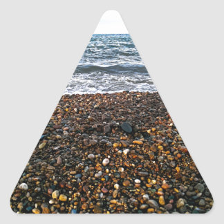 Steinstrand Dreieckiger Aufkleber