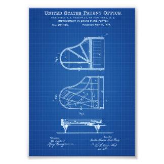 Steinway Klavier-Patent - Patent-Druck Photographien