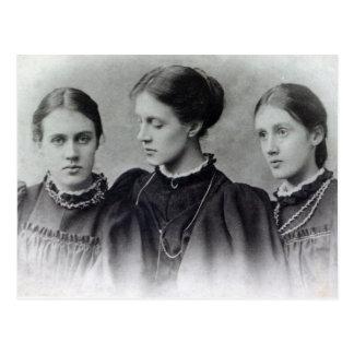 Stella, Vanessa und Virginia Stephen, c.1896 Postkarte