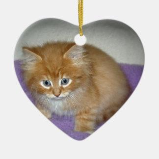 Stelle auf diesem Kätzchen Keramik Herz-Ornament