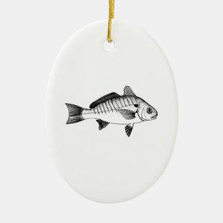 Stellen-Fische (Linie Kunst) Keramik Ornament