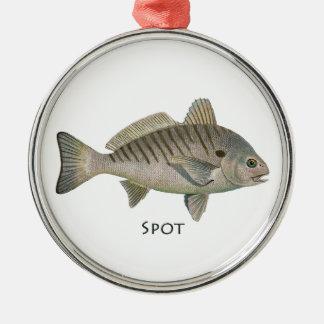 Stellen-Fische Silbernes Ornament