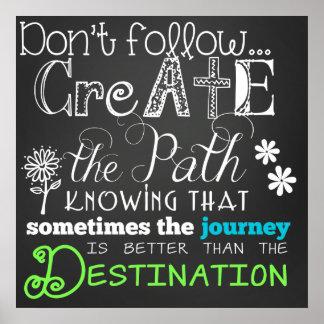 Stellen Sie das Weg-motivierend Plakat her