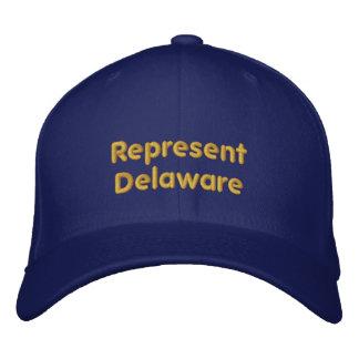 Stellen Sie Delaware-Kappe dar Bestickte Baseballkappe