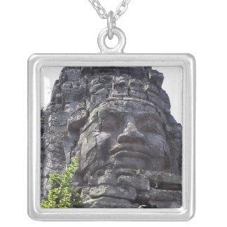 Stellen Sie Detail des Westc$tor-turms Gopuram) Versilberte Kette