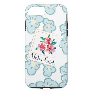 Stellen Sie ein glückliches hawaiisches Blumen dar iPhone 8/7 Hülle