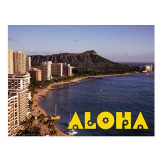 Stellen Sie eine hawaiische Ferien-Foto-Postkarte Postkarte