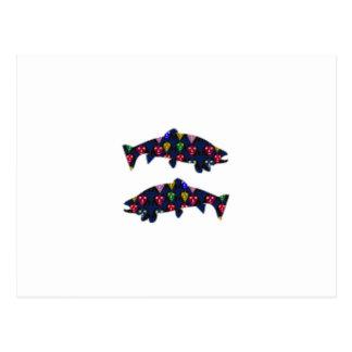 Stellen Sie GEMALTEN Fische FORELLE-KindNavinJOSHI Postkarte