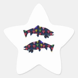 Stellen Sie GEMALTEN Fische FORELLE-KindNavinJOSHI Stern-Aufkleber