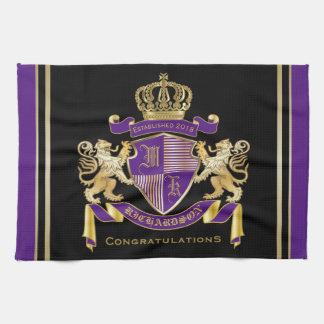 Stellen Sie Ihr eigenes Wappen Handtuch