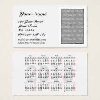 Stellen Sie Ihre eigene 2018 Kalender Visitenkarte