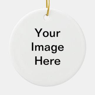 Stellen Sie Ihre eigene runde Verzierung her Keramik Ornament