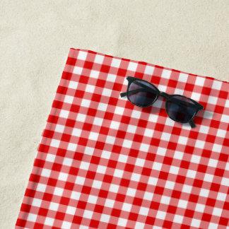 Stellen Sie Ihren eigenen Gingham her Strandtuch