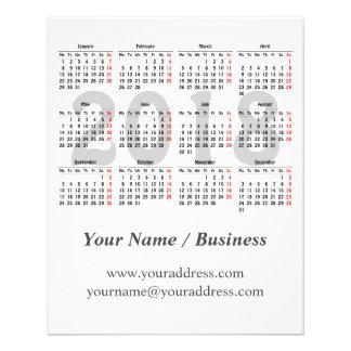 Stellen Sie Ihren eigenen Kalender 2018 her Flyer