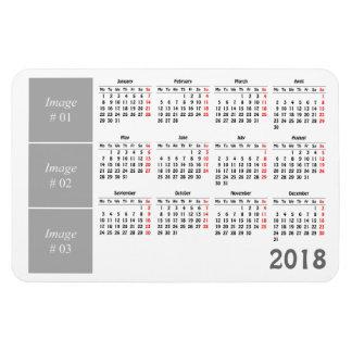 Stellen Sie Ihren eigenen Kalender 2018 her Magnet