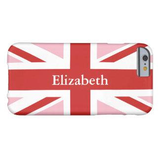 Stellen Sie Ihren eigenen personalisierten roten Barely There iPhone 6 Hülle