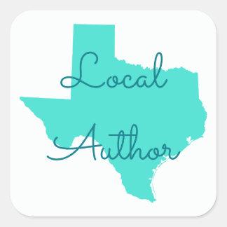 Stellen Sie Ihren eigenen Texas-Einheimisch-Autor Quadratischer Aufkleber