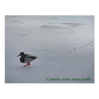 Stellen Sie Ihren eigenen Weg her Postkarte