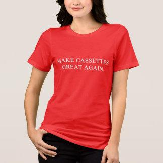 Stellen Sie Kassetten groß wieder her T-Shirt