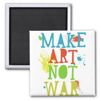 stellen Sie Kriegsmagneten der Kunst nicht her Quadratischer Magnet
