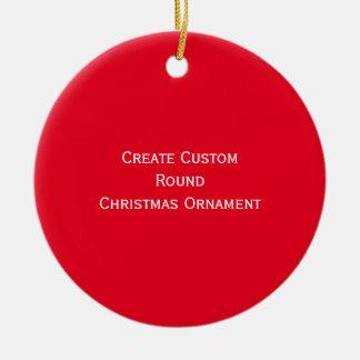 Stellen Sie kundenspezifischen personalisierten Keramik Ornament