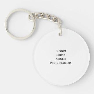 Stellen Sie kundenspezifischen runden AcrylFoto Einseitiger Runder Acryl Schlüsselanhänger