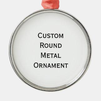 Stellen Sie kundenspezifisches rundes Silber Rundes Silberfarbenes Ornament