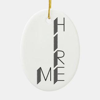 stellen Sie mich ein Ovales Keramik Ornament