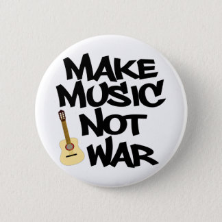 Stellen Sie Musik-nicht Krieg Akustikgitarre her Runder Button 5,1 Cm