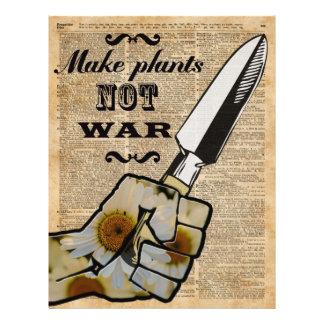 Stellen Sie Pflanzen, nicht 21,6 X 27,9 Cm Flyer