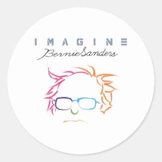 Stellen Sie sich Bernie-Sandpapierschleifmaschinen Runder Aufkleber