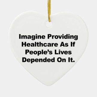 Stellen Sie sich die Leben der Keramik Herz-Ornament
