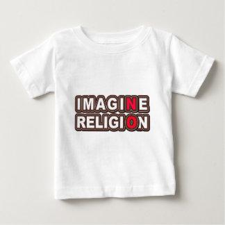 Stellen Sie sich keine Religion vor Baby T-shirt
