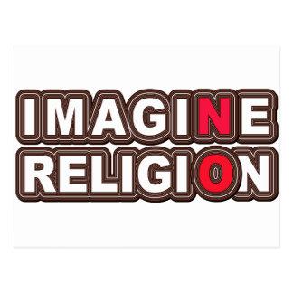 Stellen Sie sich keine Religion vor Postkarte