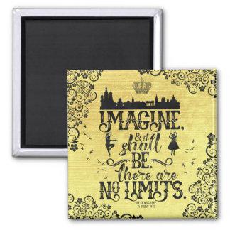 Stellen Sie sich Magneten vor Quadratischer Magnet