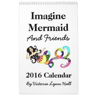 Stellen Sie sich Meerjungfrau-u. der Freund-2016 Kalender