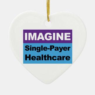 Stellen Sie sich Single-Zahler-Gesundheitswesen Keramik Herz-Ornament