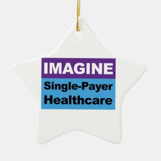 Stellen Sie sich Single-Zahler-Gesundheitswesen Keramik Stern-Ornament