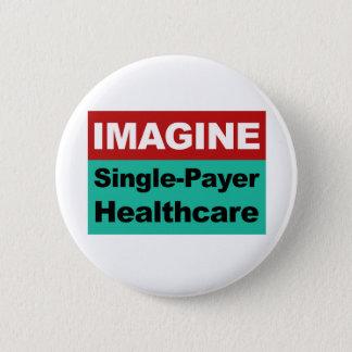Stellen Sie sich Single-Zahler-Gesundheitswesen Runder Button 5,7 Cm