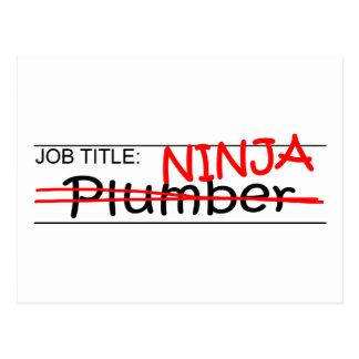 Stellenbezeichnung Ninja - Klempner Postkarte