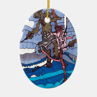 Stelzefischen Keramik Ornament